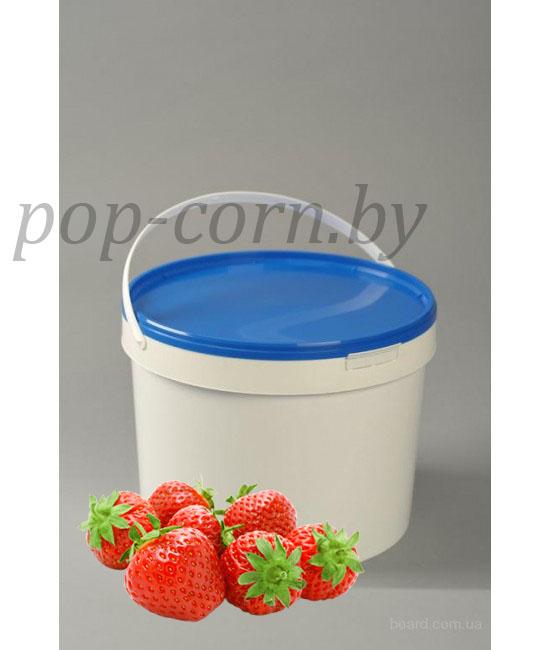 Вкусовая добавка для попкорна, со вкусом клубники, 10 кг
